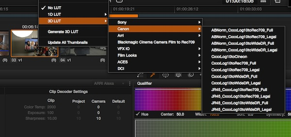 Canon LUTs for the C100, C300 and C500   Tools, Charts & Downloads
