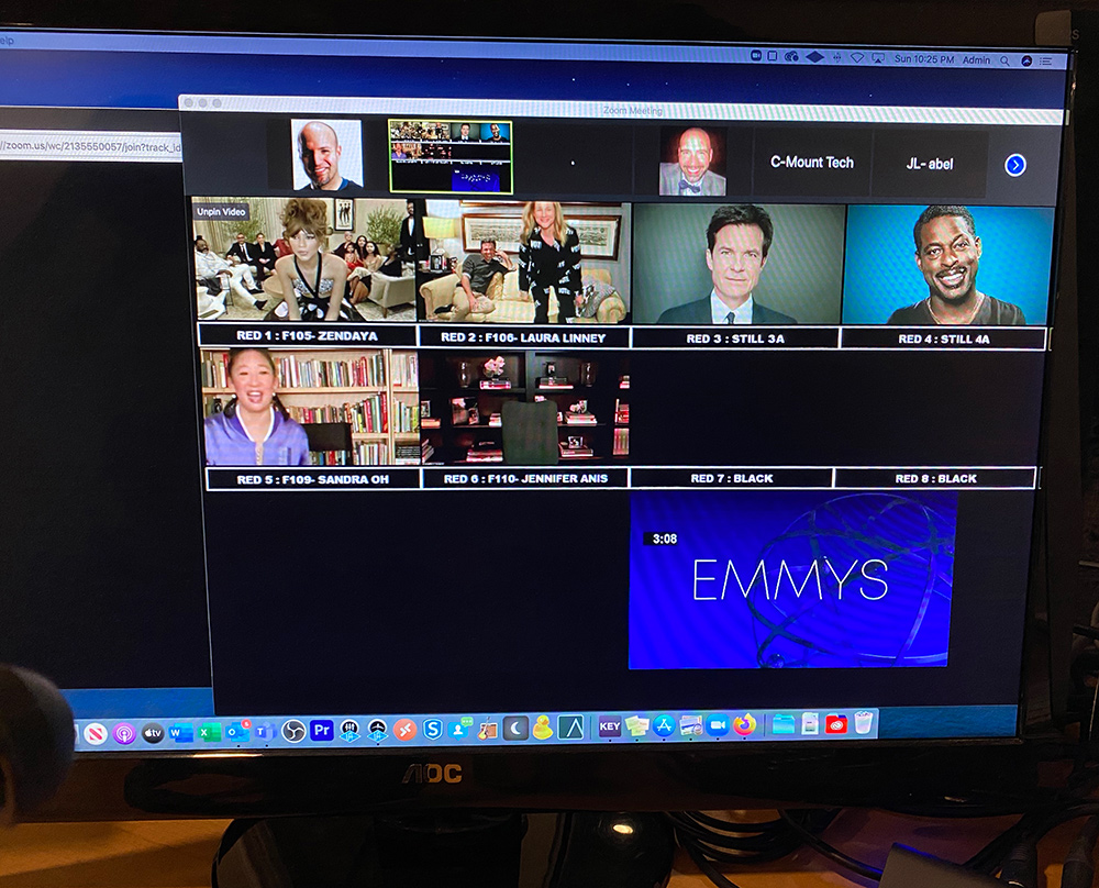 Emmys Tech Support during live show