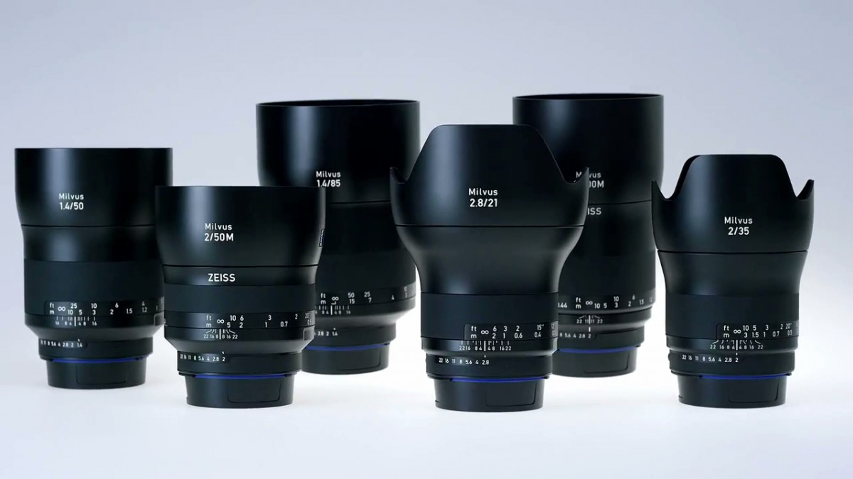 Zeiss New Full Frame Lens Lineup Comparison Chart
