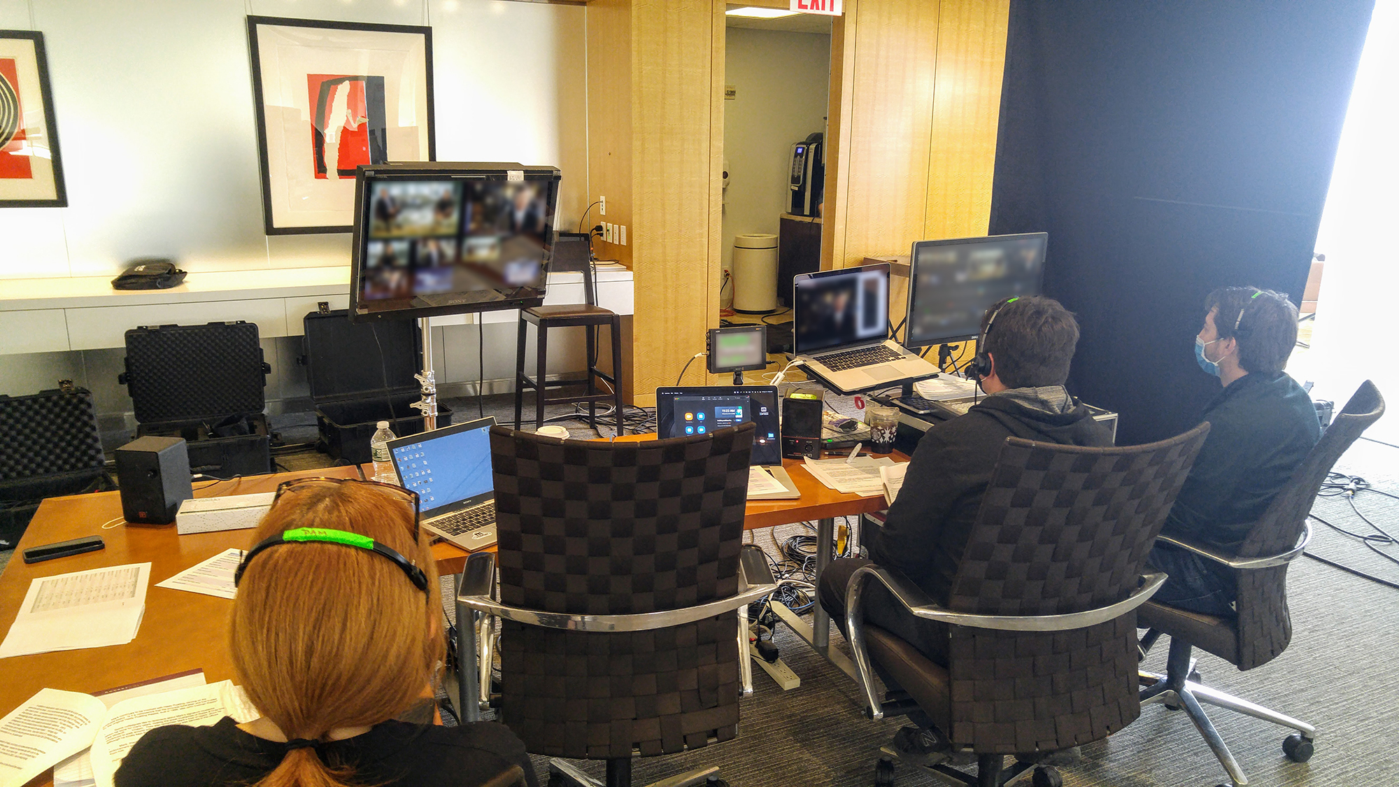 Though the meeting featured 350+ participants in various locations, A/V was run remotely from NYC.