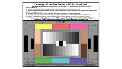DSC Labs CamAlign FrontBox Professional Chart