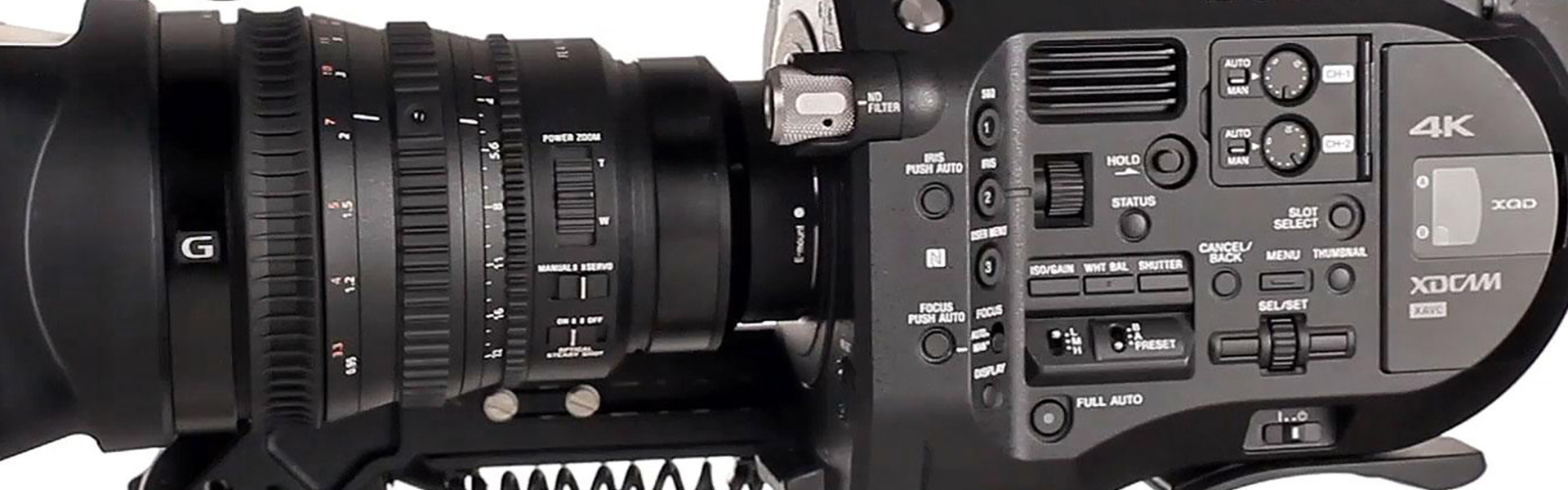 Header image for article Lenses and Accessories for the Sony FS7