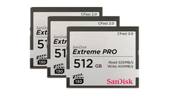 ARRI Set of (3) SanDisk CFast 2.0 Cards - 512GB