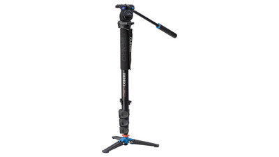Benro A38FDS2 Series 3 Aluminum Monopod Kit with 3-Leg Locking Base and S2 Video Head