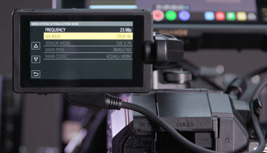 Intro image for article At the Bench: Panasonic EVA1 Firmware Version 2.02