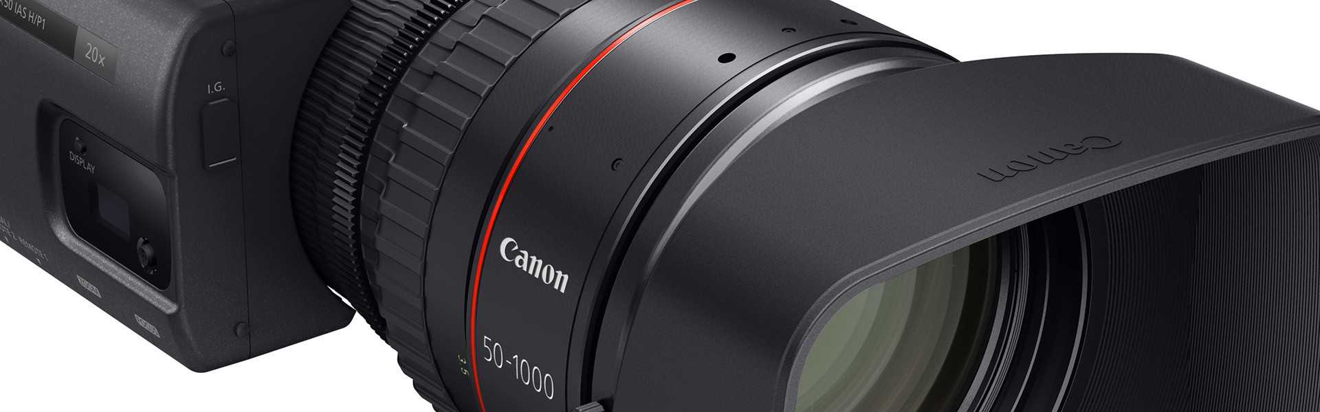 Header image for article Canon Introduces New CN20x50 50-1000 Cine-Servo Zoom Lens