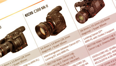 Intro image for article Canon Cinema EOS Camera Lineup