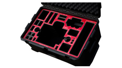 Jason Cases Pelican Case for MoVi M5 - Red Overlay