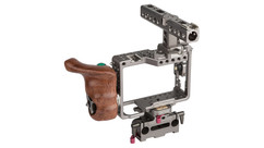 Tilta Handheld Camera Cage with Wooden Handle for Sony a7/a9 Cameras