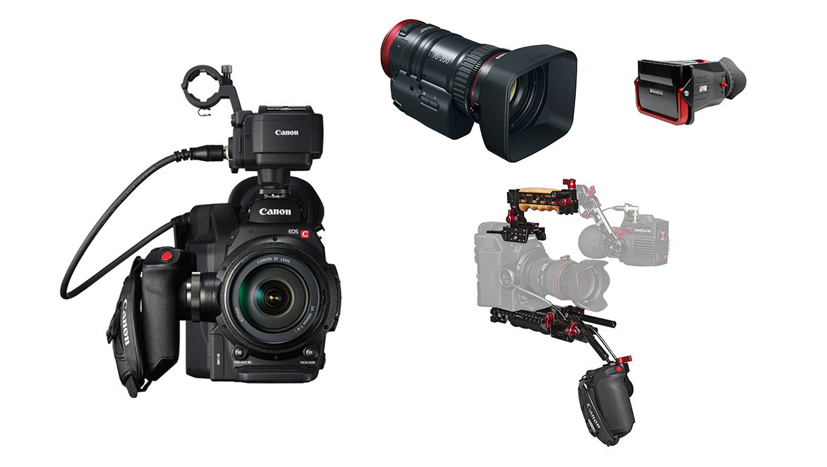 Canon C300 MkII with Zacuto Z-Finder and 70-200 Bundle   Shoulder