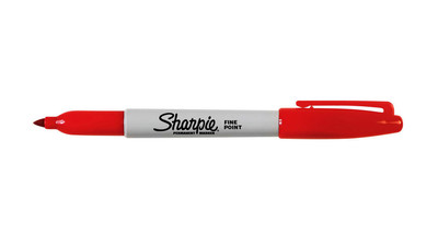 Sharpie Permanent Marker - Fine Point, Red