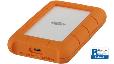 LaCie Rugged USB-C HDD with Rescue Data Recovery - 5TB