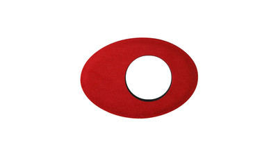 Bluestar Oval Large Microfiber Viewfinder Eyecushion - Red