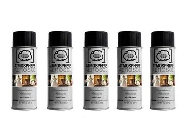 Atmosphere Aerosol 8oz Haze/Fog Spray for Photographers and Filmmakers (5-Pack)