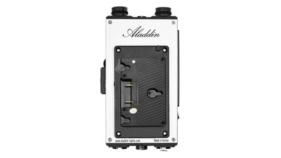 Aladdin Dimmer for Fabric-Lite 200 with DMX & LumenRadio - Gold Mount