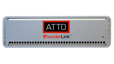 ATTO ThunderLink NT 2102 10GBASE-T 20Gb/s Thunderbolt 2 to 10GbE 2-Port Adapter