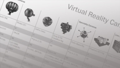 Intro image for article Virtual Reality Camera Comparison Chart