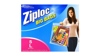 Ziploc Big Bag with Double Zipper - Large (5-Pack)