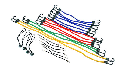 Highland Bungee Cords - Assorted Lengths (24-Pack)