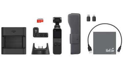 DJI Osmo Pocket 3-Axis Handheld Gimbal Camera with Expansion Kit & AbelCine Ultra Opper Fiber Lens Cloth