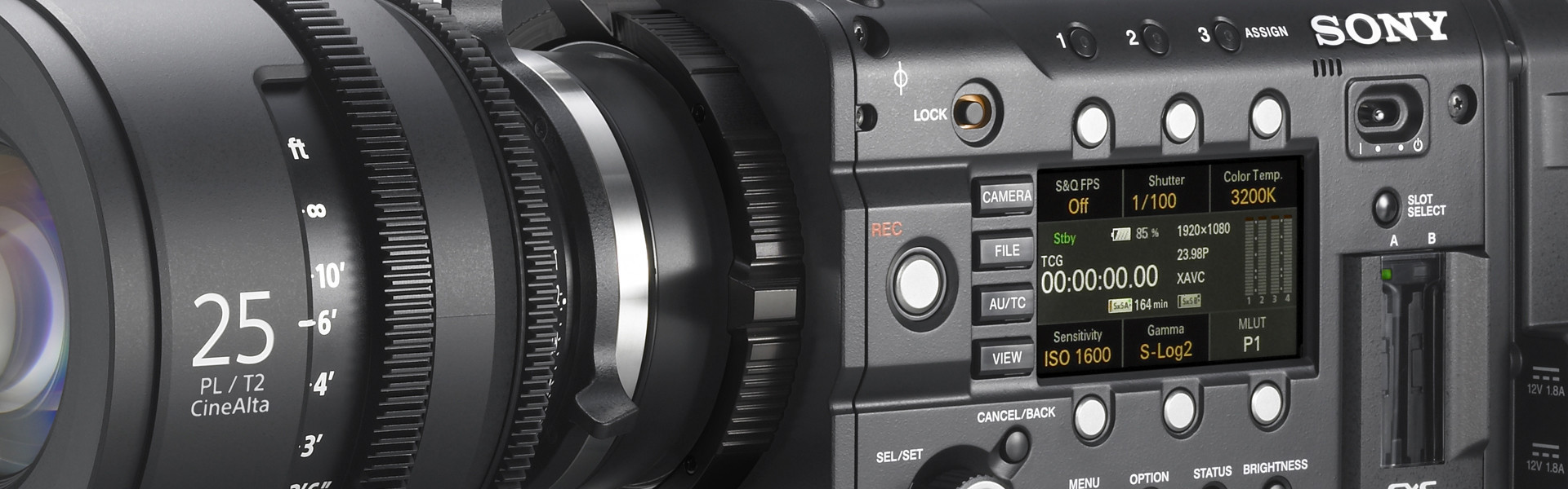 Header image for article Lenses & Accessories for the Sony PMW-F5 & PMW-F55