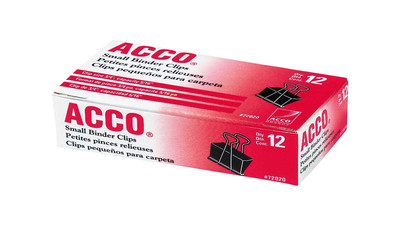 ACCO Binder Clips - Small (12-Pack)