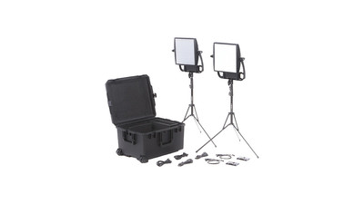 Litepanels Astra 6X Traveler Bi-Color Duo 2-Light Kit with Gold Mount Battery Brackets