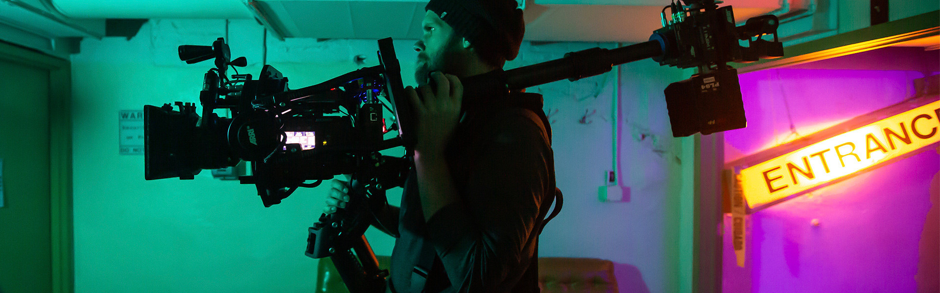 Header image for article Andrew Theiss Steps Up to the ARRI TRINITY Camera Stabilizer