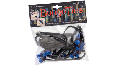 BongoTies - Blue with Black Band (10-Pack)
