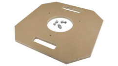 "Alan Gordon Pre-Drilled Hi-Hat Mounting Board - 18"" x 18"""