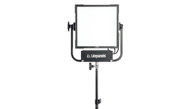 Litepanels Gemini 1x1 Soft RGBWW Panel with US Power Cable & Pole Operated Yoke