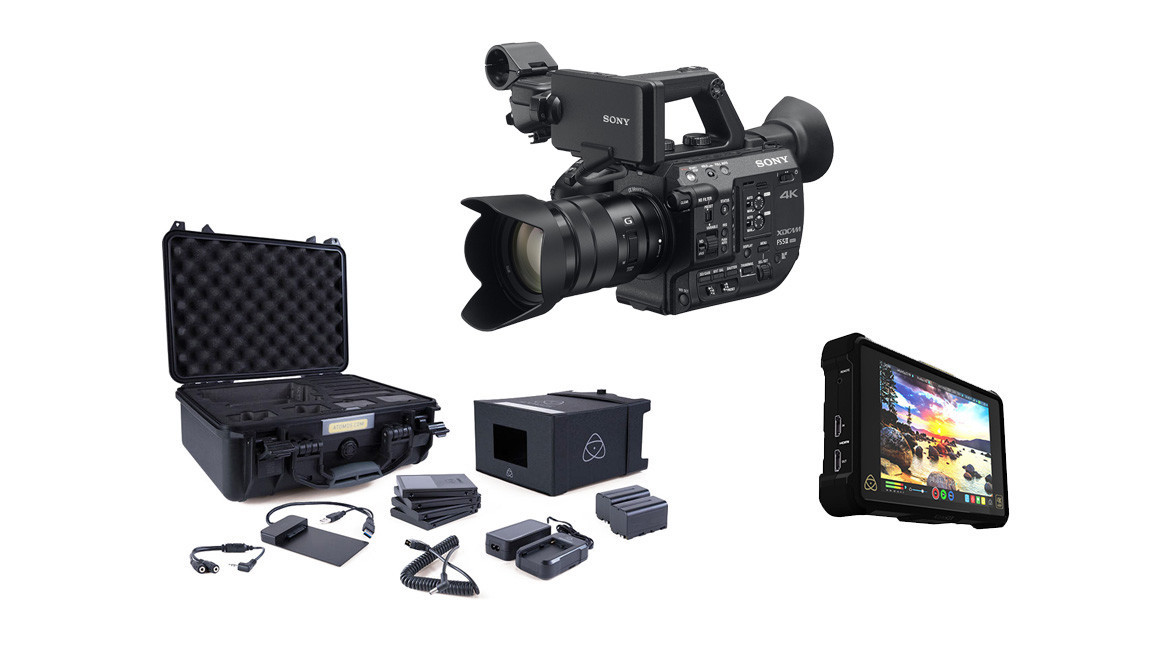1971b19d255 Sony PXW-FS5 II 4K Compact Camcorder with 18-105mm f 4 E-Mount Zoom +  Atomos Shogun Inferno ProRes RAW Bundle   Accessory Kit