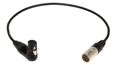 Remote Audio CAHDX3/5MR XLR3F RA to XLR5M Balanced Adapter Cable - 18""