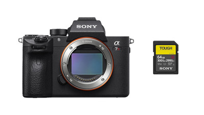 Sony Alpha a7R III Mirrorless Digital Camera Body & SF-G Tough Series 64GB SDXC Memory Card