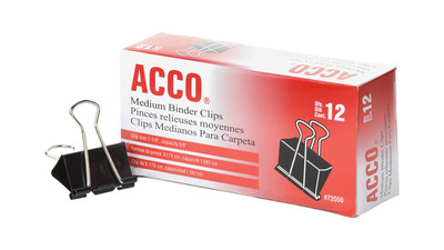 ACCO Binder Clips - Medium (12-Pack)