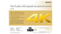 Sony CBKZ-55FX 4K Upgrade License for PMW-F5