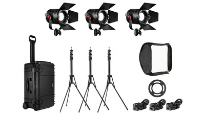 Fiilex FLXK302 K302: All Weather 3 Light Travel Kit