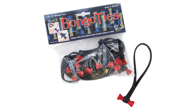BongoTies - Red with Black Band (10-Pack)