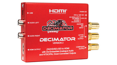 Decimator 2 Miniature 3G/HD/SD-SDI to HDMI & NTSC/PAL Downconverter