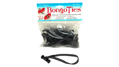 BongoTies - Stealth Black (10-Pack)