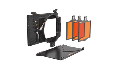 "Bright Tangerine Misfit 3-Stage Mattebox Kit #4 - 4x5.65"", 143mm Clamp-on"