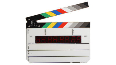 Denecke TS-3EL Timecode Slate with Color Clapper Sticks