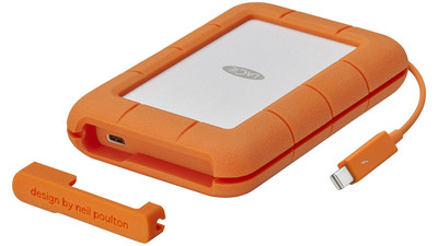 LaCie Rugged Thunderbolt USB-C Portable HDD - 4TB