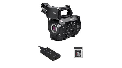 Sony FS7 II 4K Camera Body with XQD/SD Card Reader & 120GB XQD G Series Memory Card Bundle - E Mount