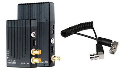 "AbelCine Teradek Bolt 500 3G-SDI/HDMI Wireless Transceiver Deluxe Set + 10"" BNC Coiled Cable Kit"