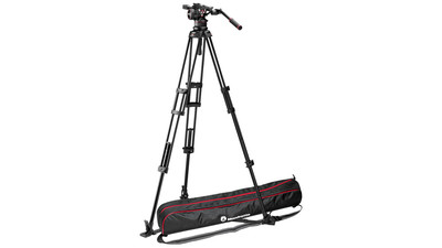Manfrotto Nitrotech N12 Video Head with Twin Leg Tripod Ground Spreader System - 100mm Half Ball