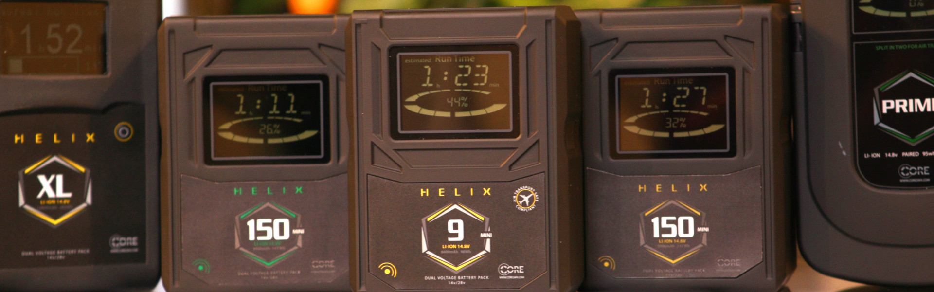 Header image for article Pre-NAB First Look: Core SWX Helix Battery Line