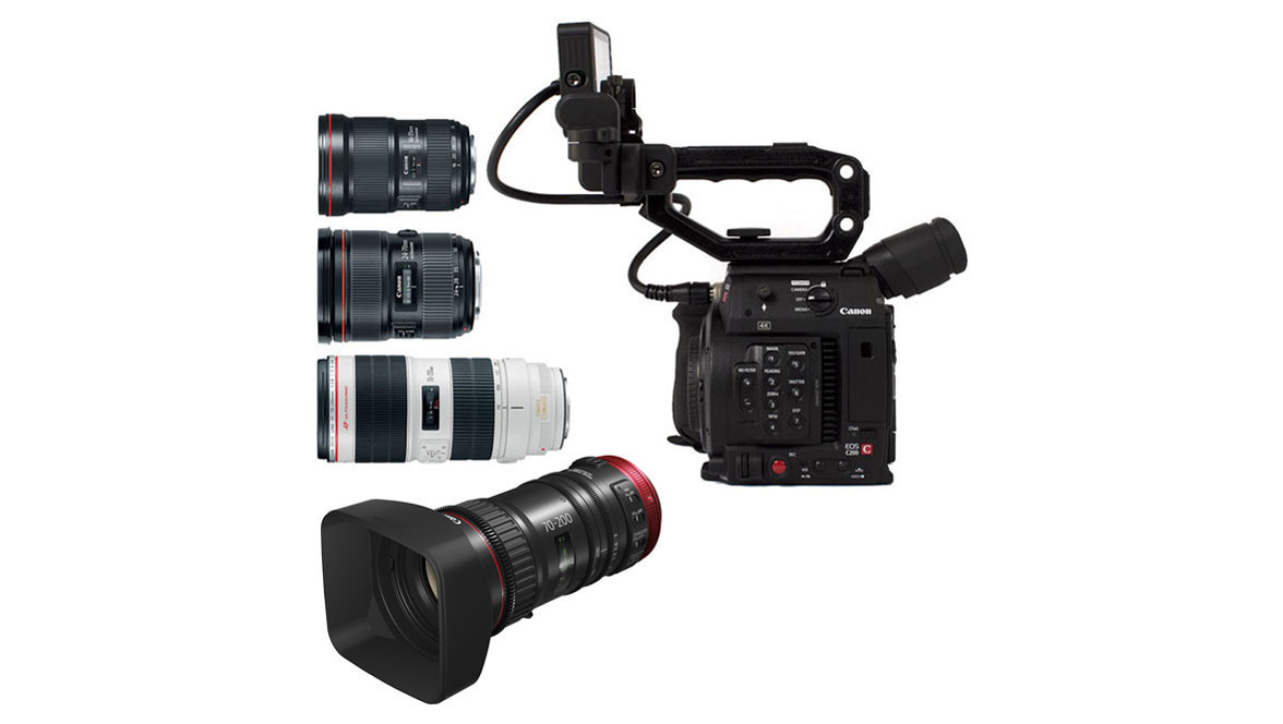 Canon EOS C200 Camera & Triple Lens Kit with Compact-Servo