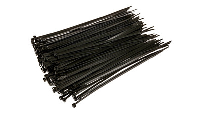 "Nylon Cable Ties UV Stabilized - 12"", Black (100-Pack)"