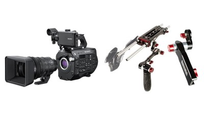 Sony PXW-FS7K Mark II with 18-110mm Zoom & SHAPE Rig with Remote Extension Handle Bundle